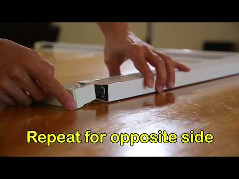 Hiss Retractable Insect Screen DIY (4 sided frame)