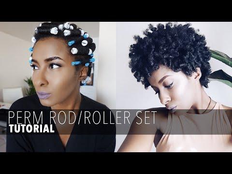 PERM ROD/ROLLER SET ON SHORT NATURAL HAIR