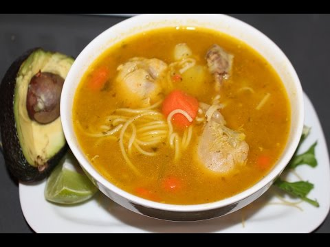 Chicken noodle soup Dominican style