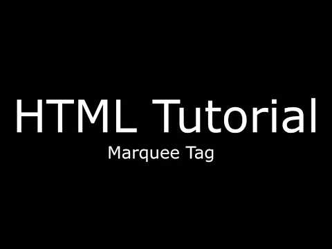 HTML Marquee tag with change height width color direction