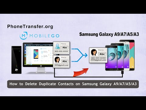 How to Delete & Merge Duplicate Contacts on Samsung Galaxy A9/A7/A5/A3