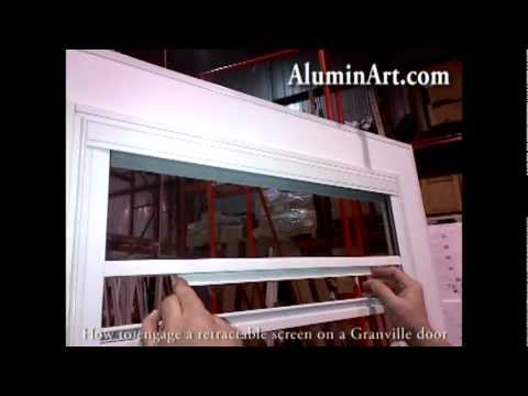 AluminArt Products - PK Training - How to engage a retractable screen on a Granville door