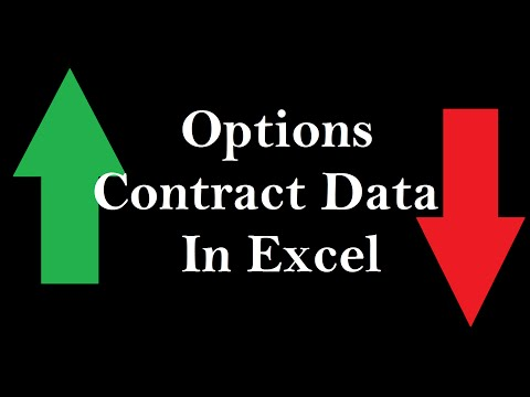Building an Options Ladder in Excel