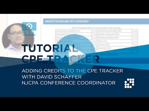 TUTORIAL:  Adding Credits to the CPE Tracker | NJCPA