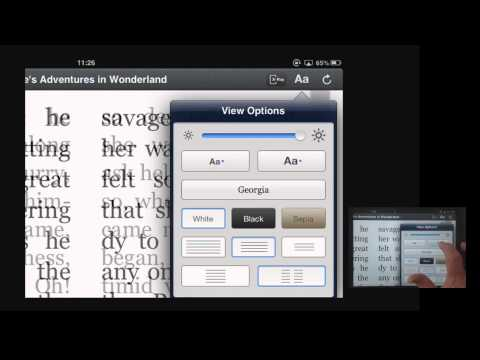Using the Amazon Kindle app with magnification on an iPad