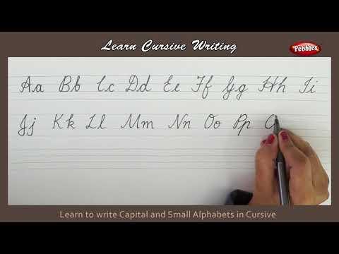 Cursive Writing   Writing Capital and Small Alphabets in Cursive   Alphabets in Cursive Letters