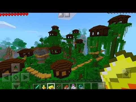 The BEST Seed Ever - Tree House Village Seed in Minecraft Pocket Edition