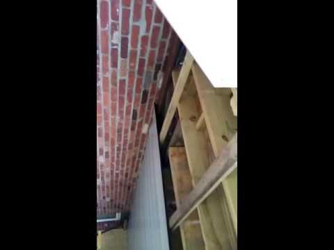 Metal roofing under deck