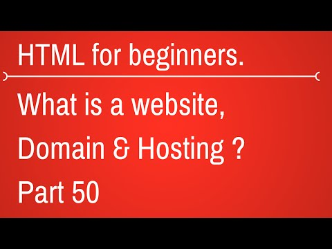 what is website, domain name and hosting box - HTML Tutorial for Beginners Part 50