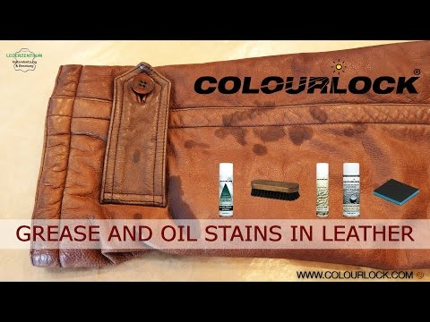GREASE STAINS AND OIL STAINS IN LEATHER