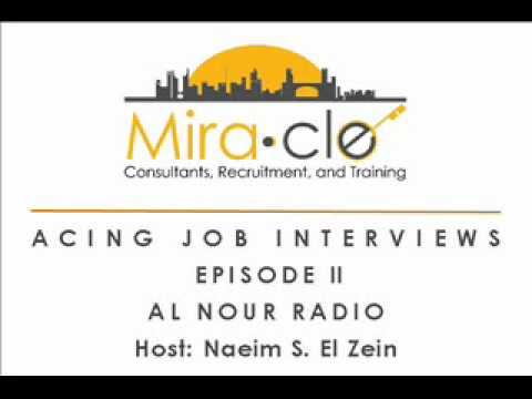 Episode 2 - Acing Job Interviews - Mira-Cle Radio Interview