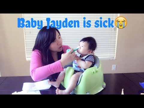 How to suck snot out of baby's running nose / baby constipated solutions