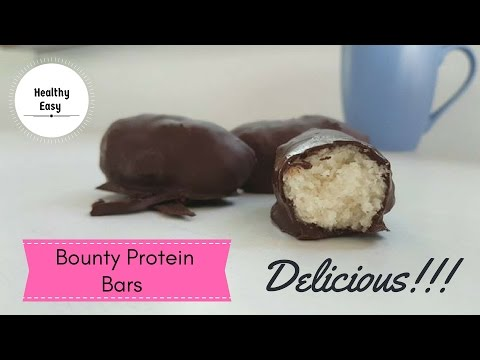How to make BOUNTY Protein Bars / Healthy, Easy, Vegan