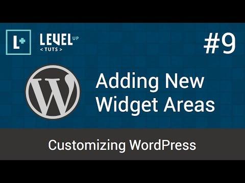 Customizing WordPress #9 - Adding New Widget Areas