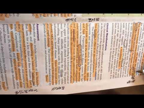 InfernoMan LVN term 2 美國護士課本 Adult Health Nursing Chapter 4 musculoskeletal Ankylosing 關結強直椎柱炎