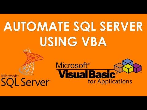 VBA and SQL Server - VBA Programming with SQL Server Database. Intro. Part-1