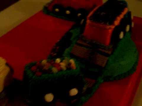 Coolest fondant train cake