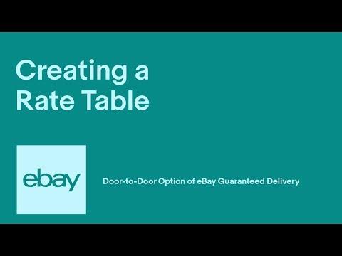 eBay | Creating Rate Tables | Door-to-Door Option of eBay Guaranteed Delivery