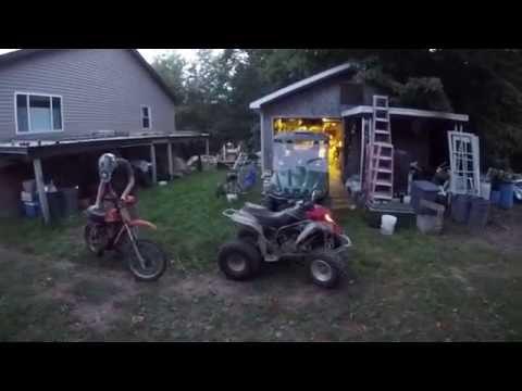 Friend rides my kx100