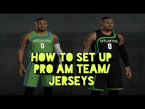 How To Set Up Your Pro Am Team/Jerseys