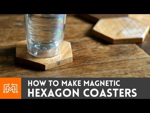 Magnetic Hexagon Coasters // How-To