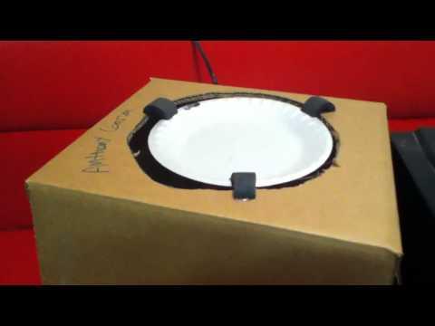 Working styrofoam plate speaker.