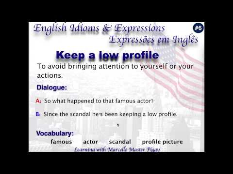 Expressões em Inglês #6 Keep a low profile - Learning with Marcello Master Piggy