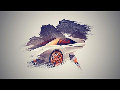 Photoshop cc Tutorial: How to make brush effect wallpaper (Lamborghini Egoista )