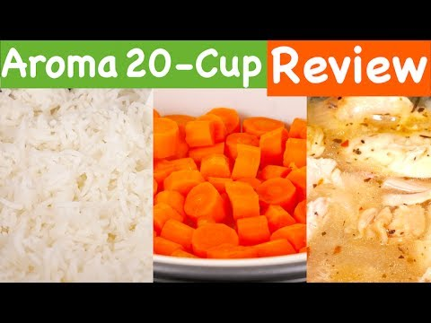 Aroma Housewares 20 Cup Cooked Digital Rice Cooker, Slow Cooker, Food Steamer REVIEW