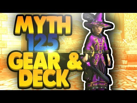Wizard101 Level 125 Max Myth Gear and Deck Setup!
