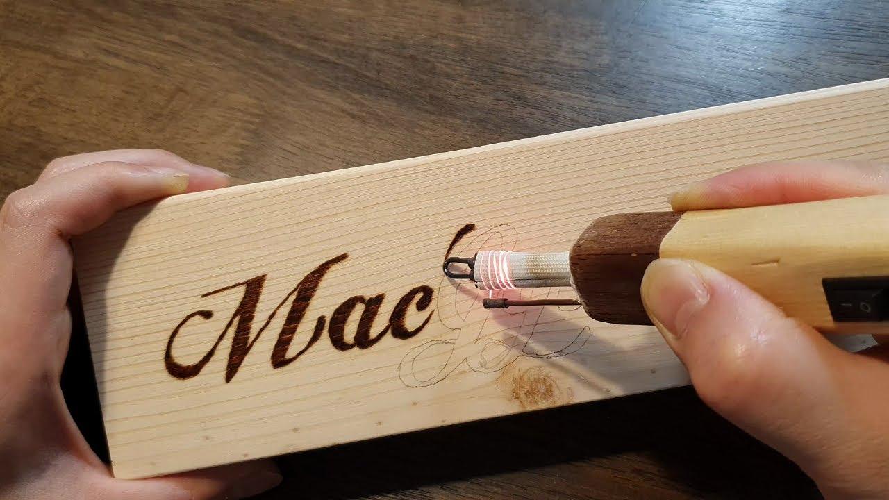 Wood burning for beginners - Handmade soldering iron
