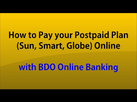 How to Pay your Postpaid Plan Sun, Smart, Globe Online with BDO Online Banking