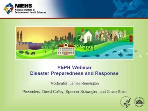 Disaster Preparedness and Response Webinar