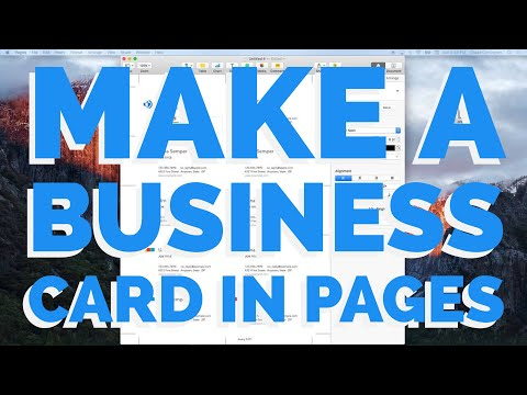 How To Make A Business Card In Pages For Mac (2016)