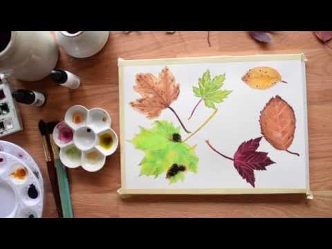 Fall Leaves Speedpainting ~ And a Giveaway!(Closed)