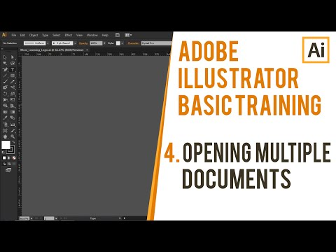 Opening and Arranging Multiple Documents in Illustrator| Adobe Illustrator Basic Training | CH04