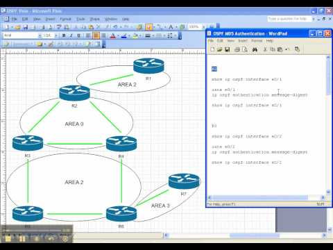 OSPF Video Cheat Sheet: MD5 Authentication - Interface