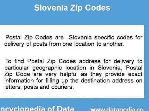 About Slovenia Postal Zip Code Finder