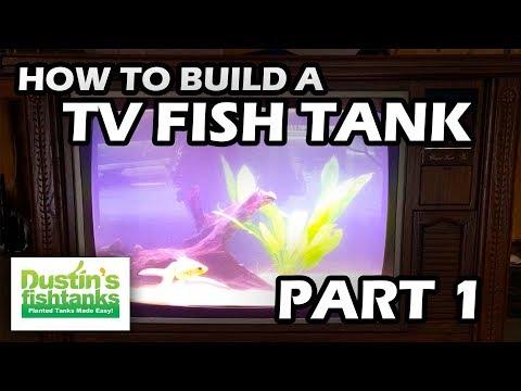 How To  Build a TV Aquarium Part One