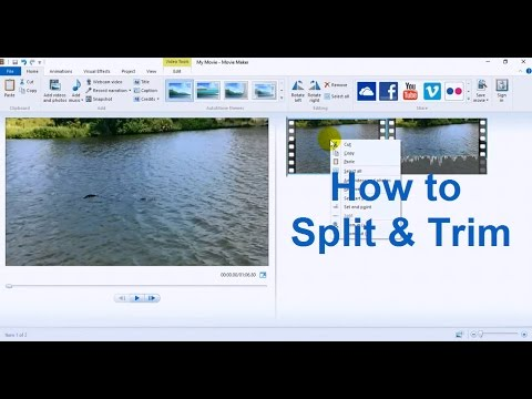 Windows Movie Maker Tutorial for Beginners -  Movie Maker Windows 10 Split, Trim & Edit Tips 2016