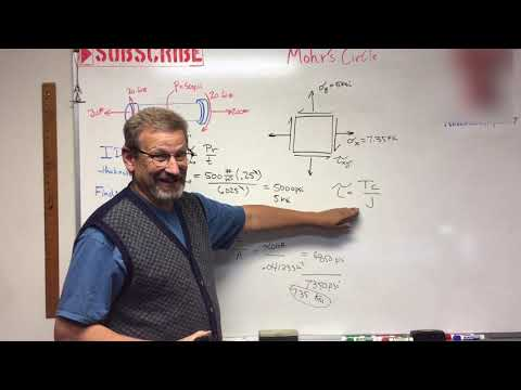 Solids - Lesson 42: Mohrs Circle from a Pressure Vessel