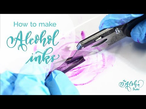 How to make DIY Alcohol Inks with Sharpies, The Aloha Studios