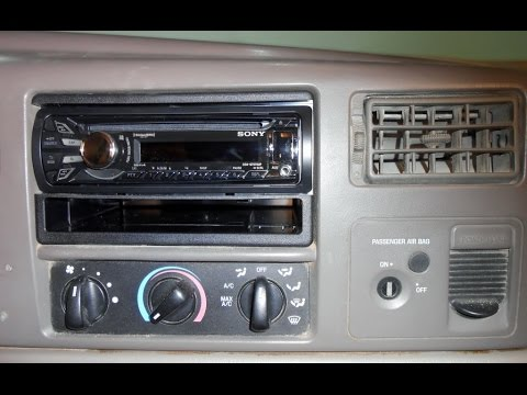How to install an aftermarket stereo in a Ford Truck
