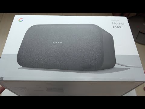 Google Home Max Smart Speaker Unboxing
