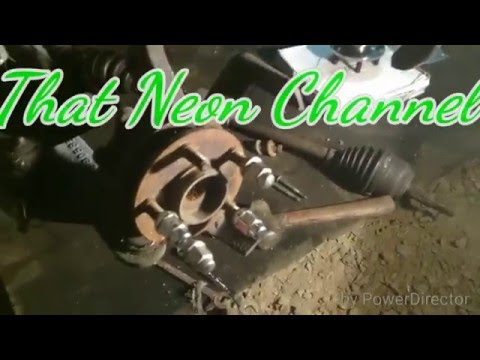 How to change a Neon wheel bearing (95-05)