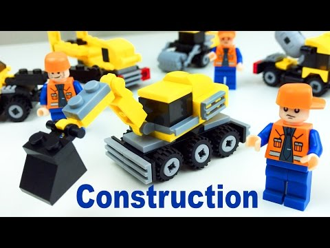 Box Opening, Let's build the Construction Building Blocks set. Let's play kids.