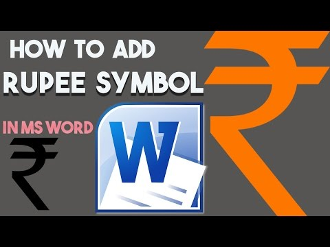 How to type rupee symbol in microsoft word Document || How to insert Rupee symbol in word