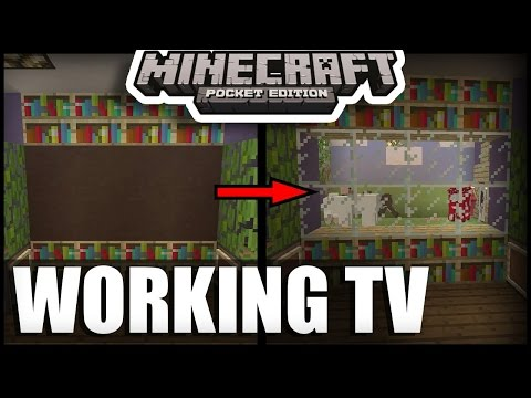 How To Make Working 3D TV ( Television) in minecraft pe | mcpe ( minecraft pocket edition ) tricks