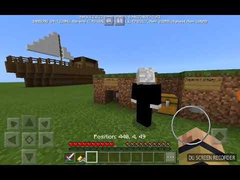 Fighting my dad on a flying ship in MCCE 1.2.22!!!!!!