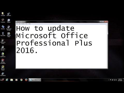 How to update Microsoft Office Professional Plus 2016